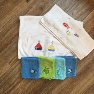 Kids Ocean Theme Hand Towels and Washcloths